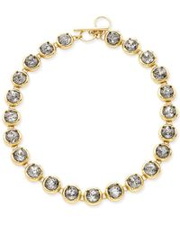 ABS By Allen Schwartz - Gold-tone Crystal Toggle Collar Necklace - Lyst