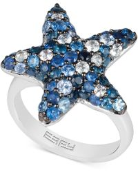 Effy Collection - Effy® Sapphire Starfish Ring (3 Ct. T.w.) In Sterling Silver - Lyst