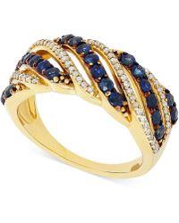 Macy's - Sapphire (1 Ct. T.w.) & Diamond (1/5 Ct. T.w.) Ring In 14k Gold - Lyst