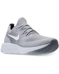 brand new 0050c e4423 Nike - Epic React Flyknit (gs) Wolf Grey  White-cool Grey -