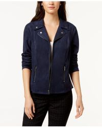 Style & Co. - Faux-suede Moto Jacket, Created For Macy's - Lyst