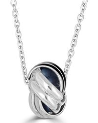 "Macy's - Love Knot 18"" Pendant Necklace In Sterling Silver - Lyst"