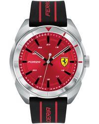 Ferrari - Forza Black Silicone Strap Watch 45mm - Lyst