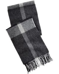 Barbour - Oakwell Plaid Wool Scarf - Lyst