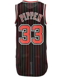 8e999411a31 Mitchell & Ness Scottie Pippen Chicago Bulls Checkerboard Swingman Jersey  in Red for Men - Lyst