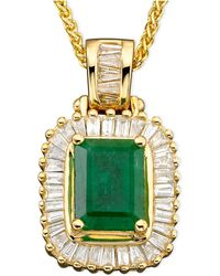 Effy Collection - Emerald (1-3/8 Ct. T.w.) And Diamond (1/2 Ct. T.w.) In 14k Gold - Lyst