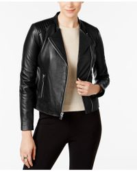 Marc New York - Selena Leather Moto Jacket - Lyst