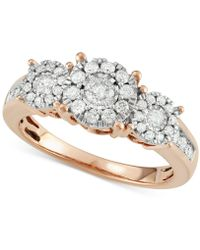 Macy's - Diamond Three Stone Engagement Ring (3/4 Ct. T.w.) In 14k Gold, White Gold Or Rose Gold - Lyst