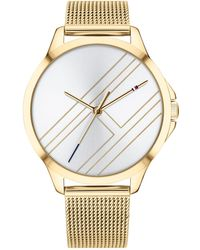 Tommy Hilfiger - Gold-tone Mesh Bracelet Watch 38mm Created For Macy's - Lyst