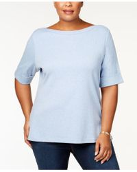 Karen Scott - Plus Size Boatneck Top, Created For Macy's - Lyst