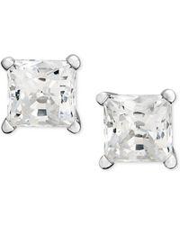 Macy's | Princess-cut Diamond Stud Earrings In 14k White Gold (1-1/4 Ct. T.w.) | Lyst