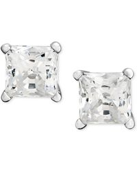 Macy's - Princess-cut Diamond Stud Earrings In 14k White Gold (1-1/4 Ct. T.w.) - Lyst