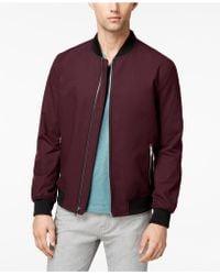Alfani | Men's Ribbed Front-zip Bomber Jacket | Lyst