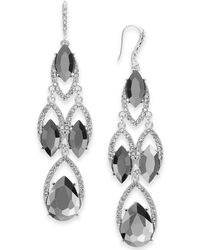 INC International Concepts I.n.c. Crystal & Stone Chandelier Earrings, Created For Macy's