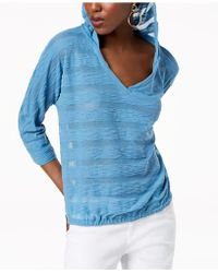 INC International Concepts - I.n.c. Striped Popover Hoodie, Created For Macy's - Lyst