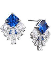 Badgley Mischka | Square Crystal Fan Drop Earrings | Lyst