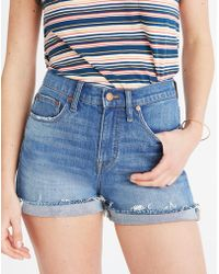 Madewell - High-rise Denim Shorts In Erwin Wash: Cutoff Edition - Lyst