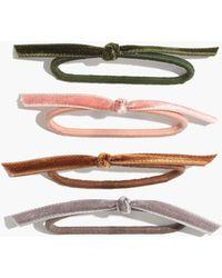 Madewell | Knotted Velvet Hair Tie Set | Lyst