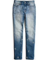 Madewell - The Perfect Summer Jean: Daisy Embroidered Edition - Lyst