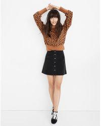 Madewell - Metropolis Snap Jean Skirt In Rawley Black - Lyst