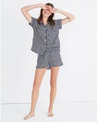 Madewell - Bedtime Pyjama Top In Mini Daisy - Lyst