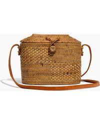 Madewell - Folk Fortune Bali Rattan Top-lid Bag - Lyst