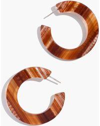 Madewell - Striped Resin Hoop Earrings - Lyst