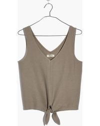 Madewell - Texture & Thread Tie-front Tank Top - Lyst