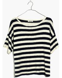Madewell - Boxy Sweater Tee In Kelley Stripe - Lyst