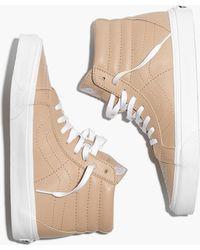 94bad1afb0 Madewell - Vans Unisex Sk8-hi Reissue High-top Sneakers In Sesame Leather -