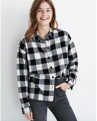 Madewell Shirt-jacket In Buffalo Check - Black