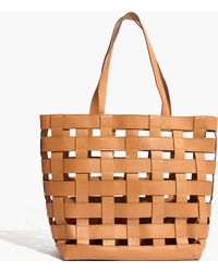 Madewell - The Medium Transport Tote: Basketweave Edition - Lyst
