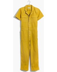 Madewell - Short-sleeve Coverall Jumpsuit - Lyst