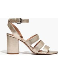 Madewell   The Maria Sandal In Soft Gold   Lyst