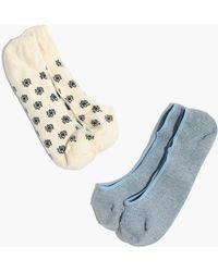 Madewell - Two-pack Daisy & Solid Low-profile Socks - Lyst