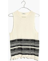 Madewell - Villagrove Sweater Tank In Bright Ivory - Lyst