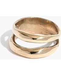 Madewell - Slantt® Frida Double Ring - Lyst