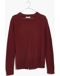 Madewell   Province Cross-back Pullover Sweater   Lyst