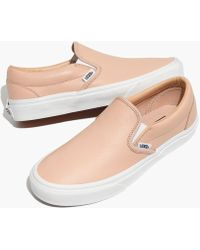 Madewell - Vans® Unisex Classic Slip-on Sneakers In Frappe Leather - Lyst