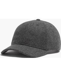 Madewell - Wool-blend Baseball Hat - Lyst