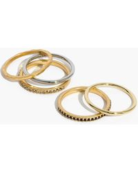 Madewell - Filament Stacking Rings - Lyst