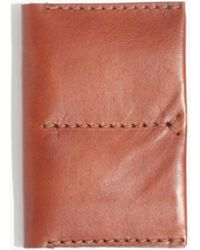 Madewell - The Leather Passport Case - Lyst