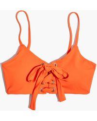 Madewell - Mara Hoffman® Scarlett Lace-up Bikini Top - Lyst