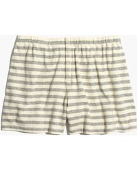 Madewell - Lounger Pajama Shorts In Stripe - Lyst