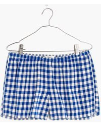 Madewell - Flannel Bedtime Pyjama Shorts In Gingham Check - Lyst