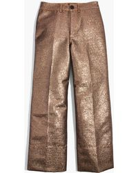 Madewell - Langford Wide-leg Crop Trousers In Metallic - Lyst