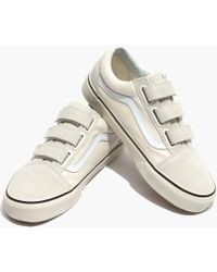 Madewell - Vans® Unisex Old Skool Velcro Trainers In Marshmallow Canvas - Lyst