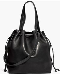 Madewell - Medium Drawstring Transport Leather Tote - Lyst