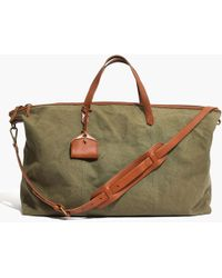 Madewell - The Transport Weekender In Canvas - Lyst