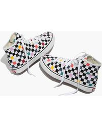 aec76a9cd1 Hot Madewell - Vans Unisex Sk8-hi Decon High-top Sneakers In Party  Checkerboard -